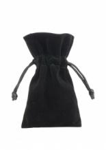 Stoffen zakje voor geurblokjes (zwart) 8 stuks