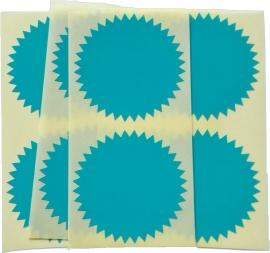Stickers ster groot blauw - 30 stuks