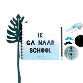 Invul basisschoolboek Ik ga naar school - blauw