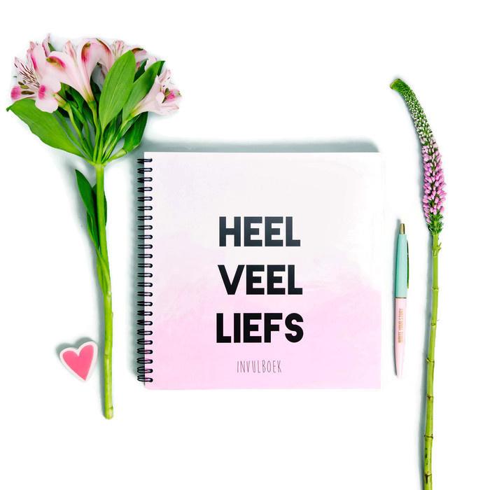 Invul kraambezoekboek Heel veel liefs - roze