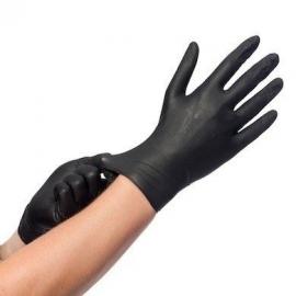 Nitril handschoenen zwart  100st MAAT S