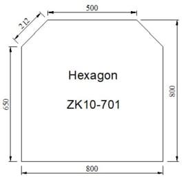 Kachelvloerplaat zeskant 800 x 800 x 6 mm