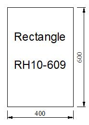Kachelvloerplaat rechthoek 400 x 600 x 6 mm