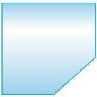 Vloerplaat Schuine kant - helder glas