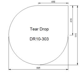 Kachelvloerplaat druppel 1000 x 1000 x 6 mm