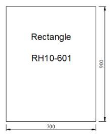 Kachelvloerplaat rechthoek 700 x 900 x 6 mm
