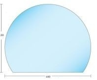 Kachelvloerplat eclipsvormig 850 x 734 x 6