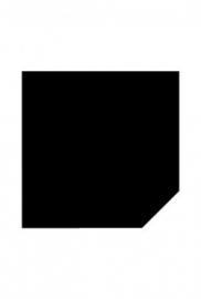 2mm Staal schuine kant - Zwart