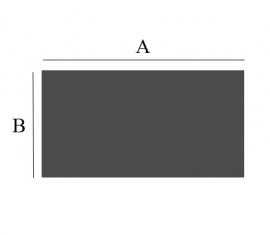 RH20-556 2mm Staalvloerplaat vierkant/rechthoek 400x 1000 antraciet
