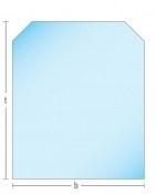 Kachelvloerplaat zeskant 850 x 1000 x 6