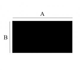 2mm Staalvloerplaat rechthoek 400x 1000 zwart (GKZ)
