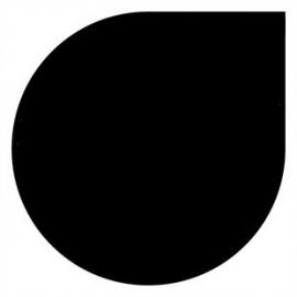 2mm Staal druppel - Zwart