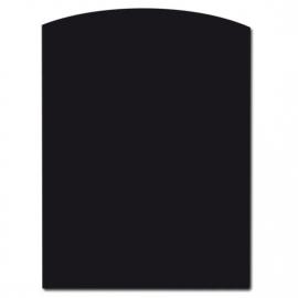 Nr 31-202 Vloerplaat Glas - Zwart (Rechthoek - Boog) B x D 85 x 110 x 0,6cm