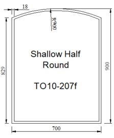 Kachelvloerplaat toog/boog met facet 700 x 900 x 6 (Nieuw)