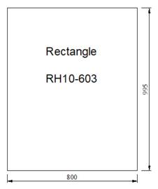 Kachelvloerplaat rechthoek 800 x 1000 x 6 mm