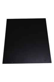 Nr 32-500TR  2mm Staalvloerplaat rechthoek 660 x 800 zwart
