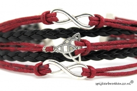 Armband rood-zwart