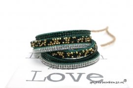 Multi layer armband groen