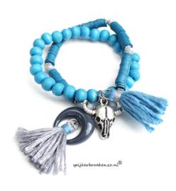 Armband Ibiza blauw