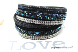Multi layer armband zwart