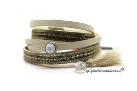 armband magneet beige
