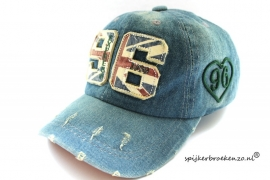 Kinder jeans cap 96 groen
