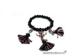 Armband kraal Ibiza zwart