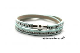 Armband strass lichtblauw