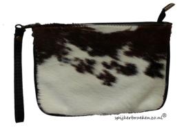 Clutch koeienhuid bruin -wit 2