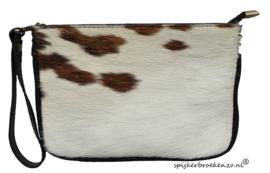 Clutch koeienhuid bruin -wit 3