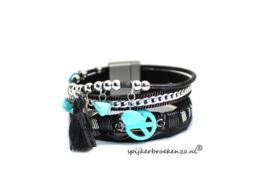 armband magneetsluiting Ibiza zwart