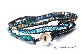 Wikkel armband-beads curacao