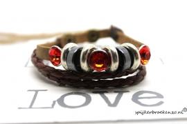 Armband steen rood