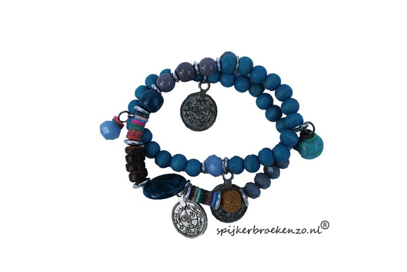 Armband kraal blauw