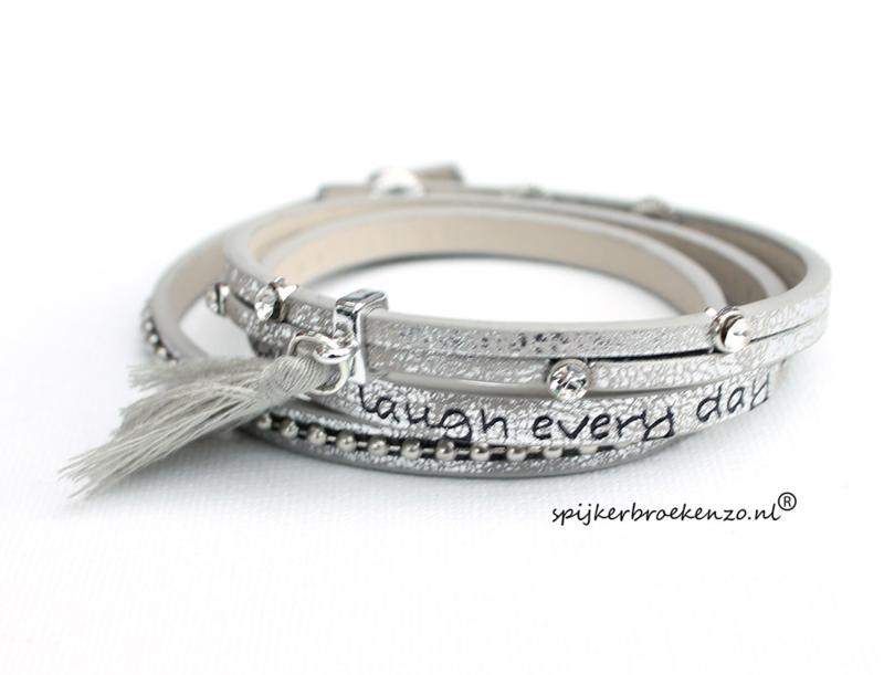 armband  zilver tekst
