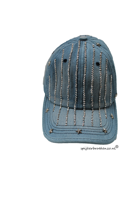 Jeans cap strass