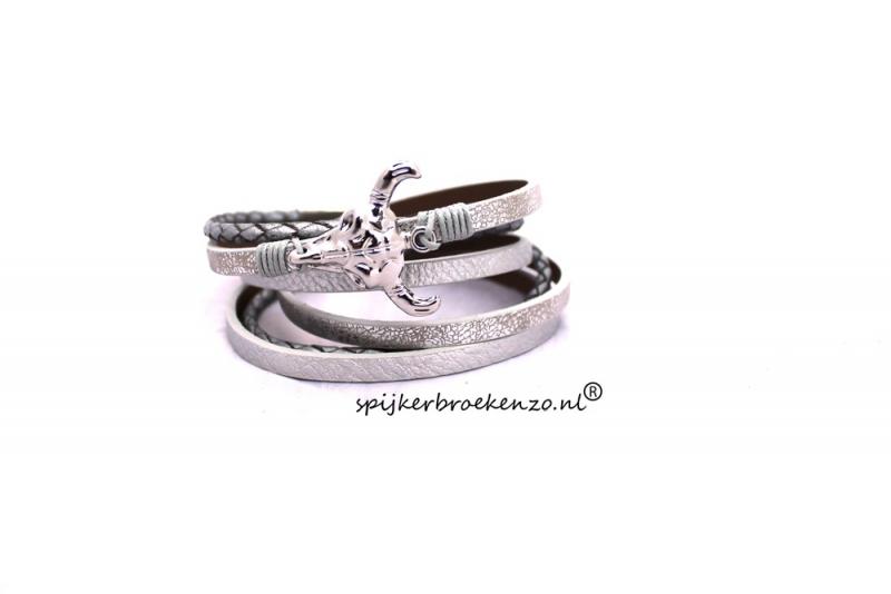 armband Ibiza cow zilver