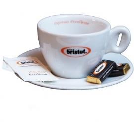 Bristot Cappuccino kop en schotel