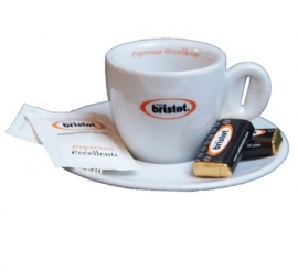Bristot Espresso Kop en Schotel