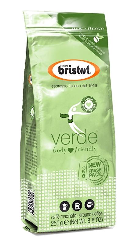 Bristot Verde (lichaamsvriendelijk) gemalen koffie