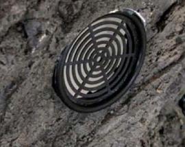 Achterwand roostertje -zwart- ca. 5 CM doorsnee
