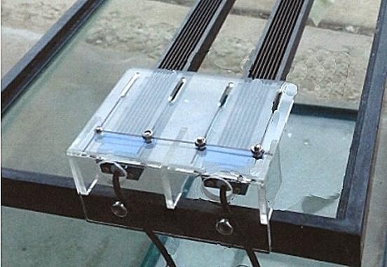 LED  houder set  t.b.v. 2 led bars (tbv 1W led bars)