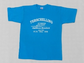 T Shirt Kind Turquoise Hel Blauw