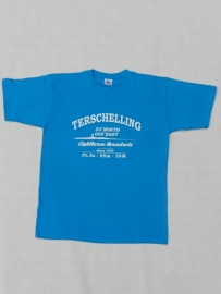 T Shirt Volw. Turquoise Hel- Blauw