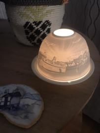 Sfeerlicht porcelein met Terschelling taferelen