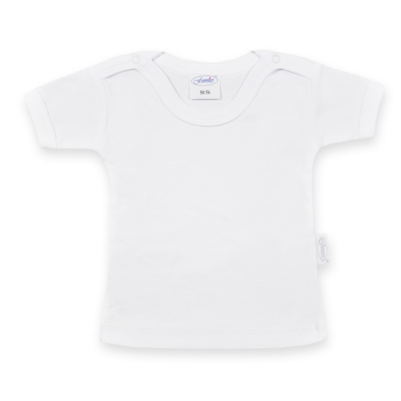 "Baby shirt ""new born"" maat: 50/56 - kleur wit"