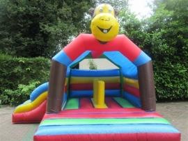 Springkasteel Aap met slide