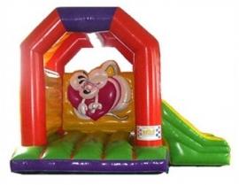 Springkasteel Diddl met slide