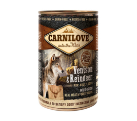 CARNILOVE DOG |  Hert & Rendier (adult) | 400 gram