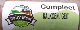 DAILY MEAT | Kalkoen & Geit COMPLEET | 1000 gram